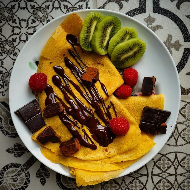 CREPES FRUIT amp CHOCOLATE  Crepes de calabaza con unhellip