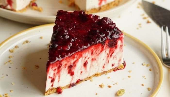 Mousse cheesecake sin lactosa
